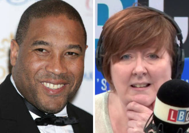 John Barnes and Shelagh Fogarty did battle live on LBC