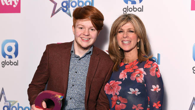Joshua Hill wins The Very Award, with presenter Kate Garraway