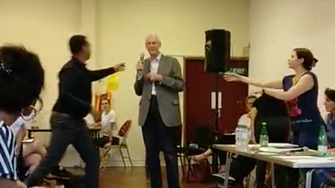Martin Moore-Bick heckled by protesters at meeting with Grenfell survivors