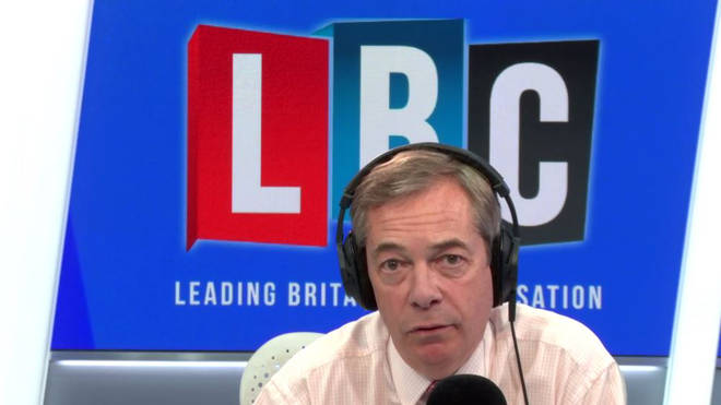 Nigel Farage in the LBC studio