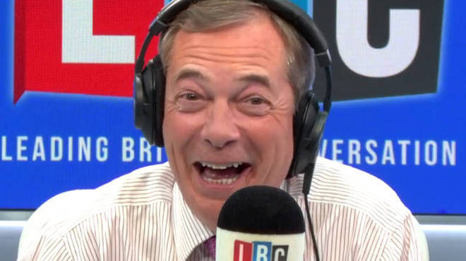 Nigel Farage lauded the caller on Monday night
