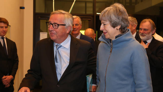 The Prime Minister traveled to Brussels on Monday afternoon to meet Jean-Claude Juncker