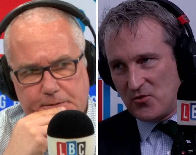 Damian Hinds was put on the spot by Eddie Mair