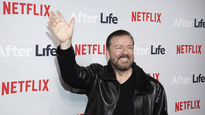 Ricky Gervais at the premiere of After Life