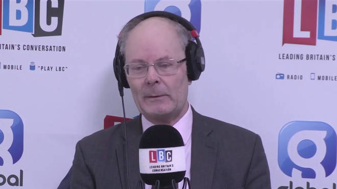 Professor Sir John Curtice at the LBC studio in Westminster