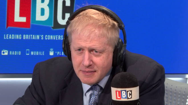 Boris Johnson listens to caller Paul