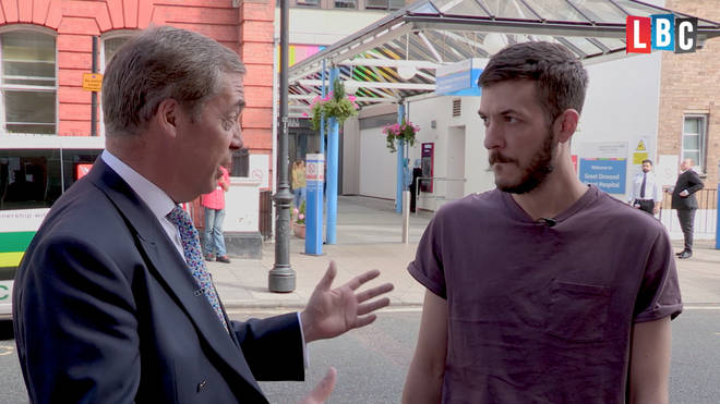 Chrid Gard speaks to Nigel Farage