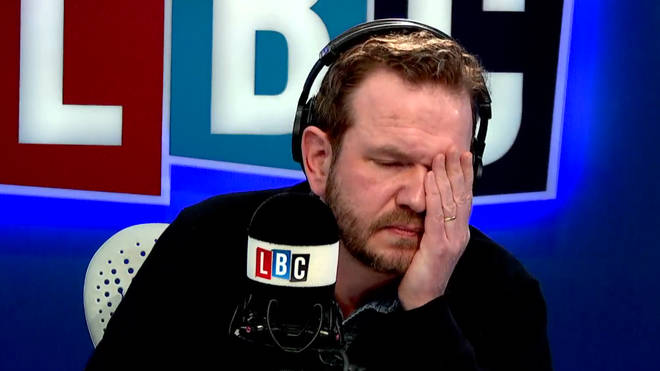 James O'Brien was left with his head in his hands by David