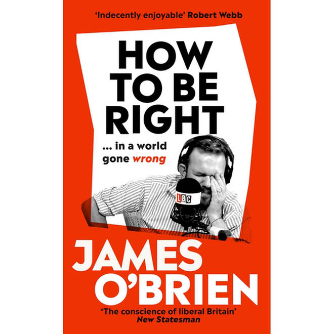 The cover of James's book