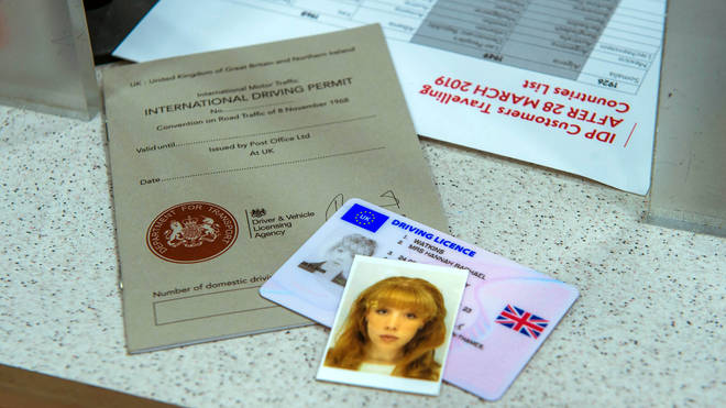 An International Driving Permit at the Post Office