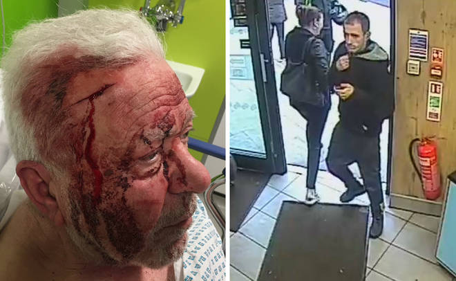 Police released CCTV of the man wanted after the attack