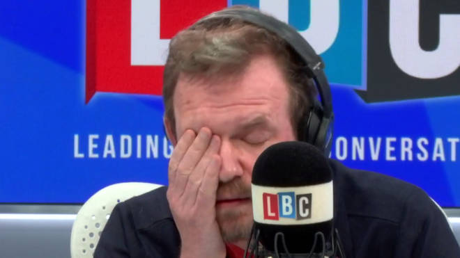 James O'Brien had his head in his hands