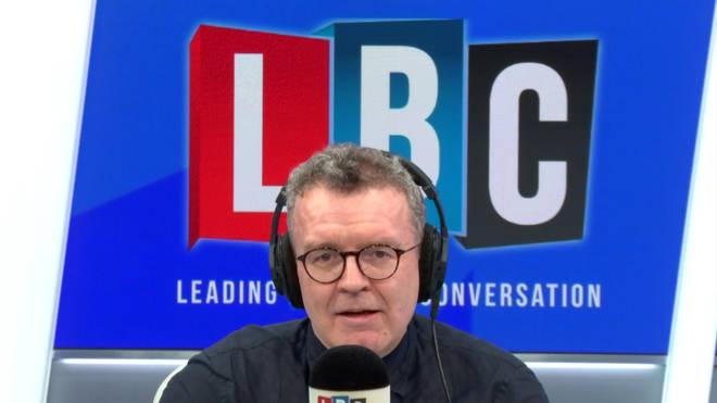 Tom Watson in the LBC studio