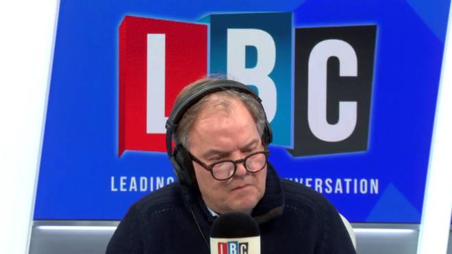 Matt Frei in the LBC studio