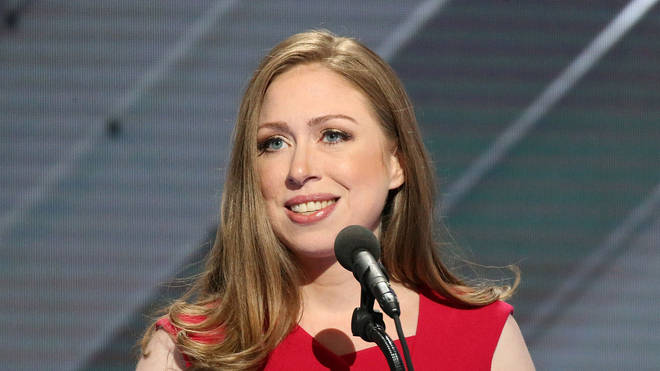 Chelsea Clinton speaking at the Democratic National Convention in 2016