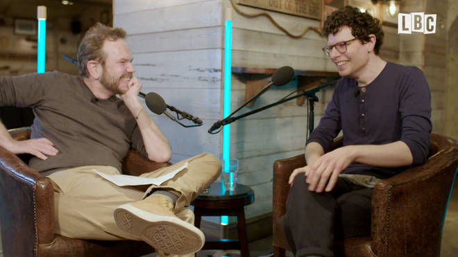James O'Brien with Simon Amstell