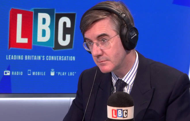 Jacob Rees-Mogg in the LBC studio