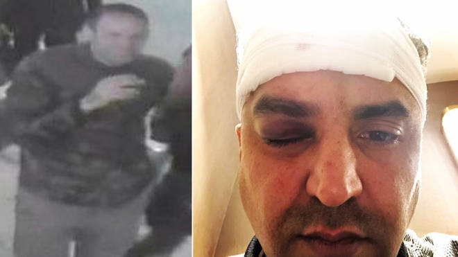 Police released this CCTV picture after Maajid Nawaz was attacked