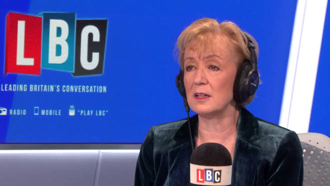 Andrea Leadsom in the LBC studio