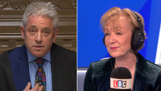 Andrea Leadsom refused to say John Bercow was impartial
