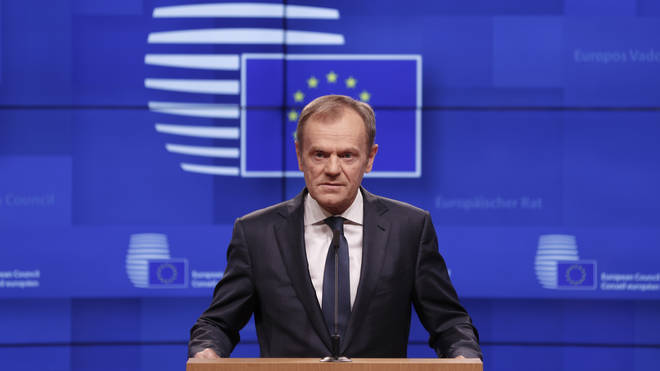 Donald Tusk spoke in Brussels on Wednesday afternoon