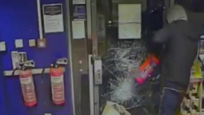 Russell Hadley was locked in a petrol station by quick-thinking employees