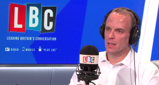 Former Brexit Secretary Dominic Raab was listening to Theresa May's statement live
