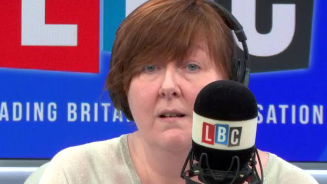 Shelagh Fogarty was on the receiving end of James' rage