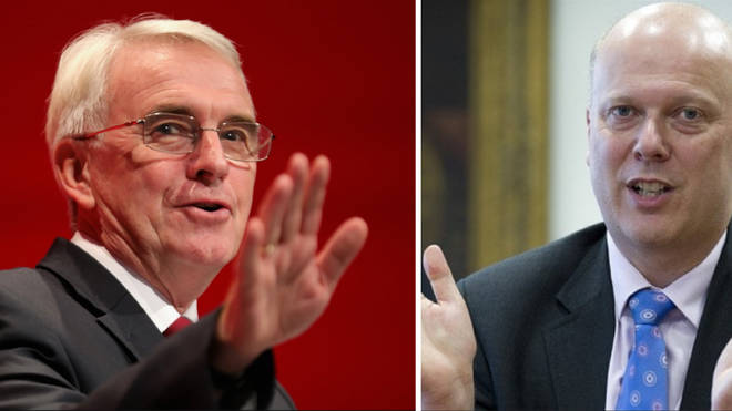 John McDonnell and Chris Grayling