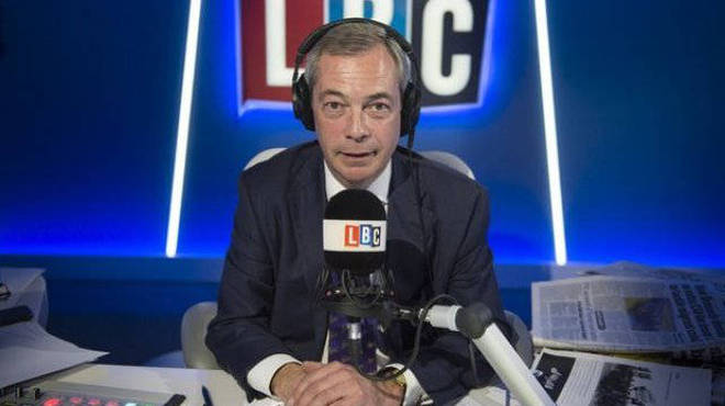 Nigel Farage LIVE from 10am on LBC