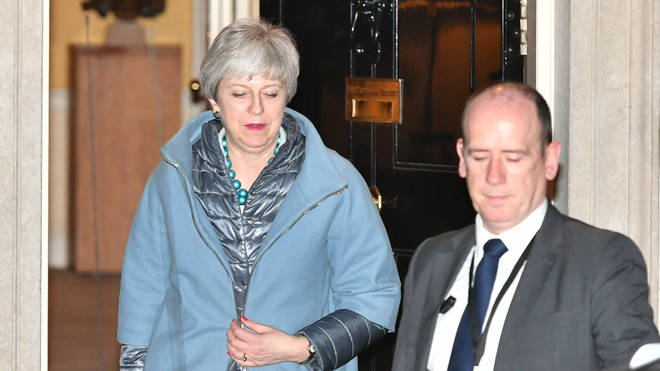 Theresa May suffered a heavy defeat on Monday night