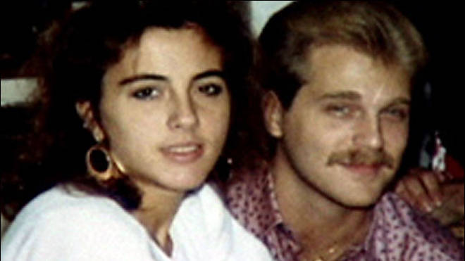 "Terri Schiavo with her husband before the heart attack which left her in so-called ""vegetative state"". Her brother joined Ian in the studio. Photo: CNN"