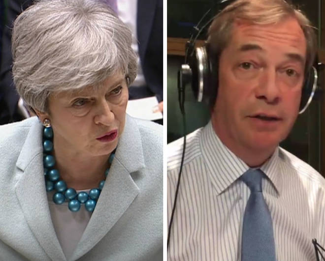Nigel Farage said a delay to Brexit is better than Theresa May's deal
