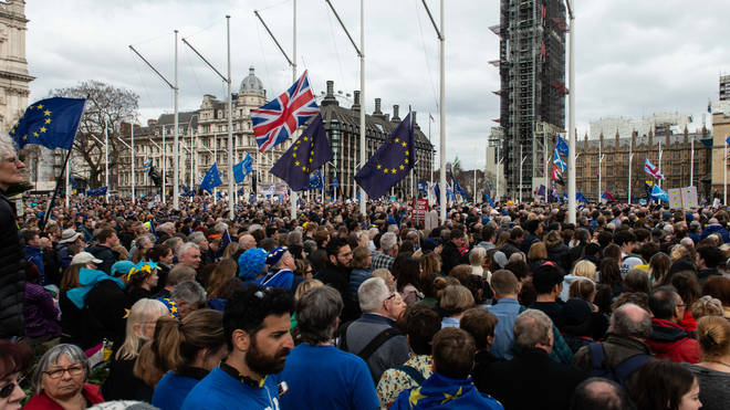 Huge crowds at the People's Vote march last weekend