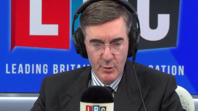 Jacob Rees-Mogg presented his Friday LBC show on the day the UK was due to leave the EU