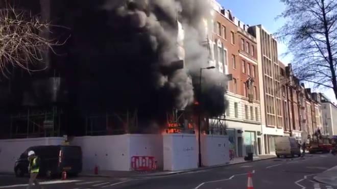 Fire In Great Portland Street
