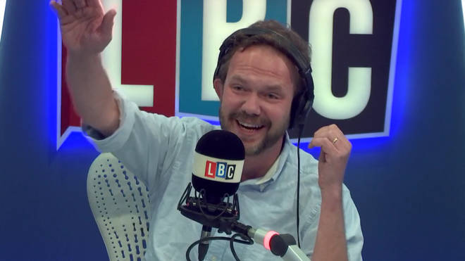 James O'Brien laughing at his discussion with Wayne in Chelmsford