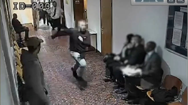 CCTV shows the escape unfold