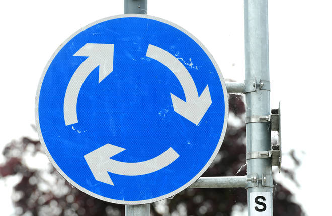 Why is there a gap in the clockwise circle of the roundabout?