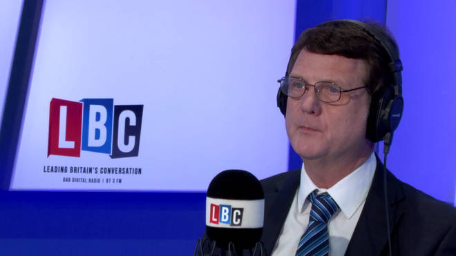 Gerard Batten in the LBC studio
