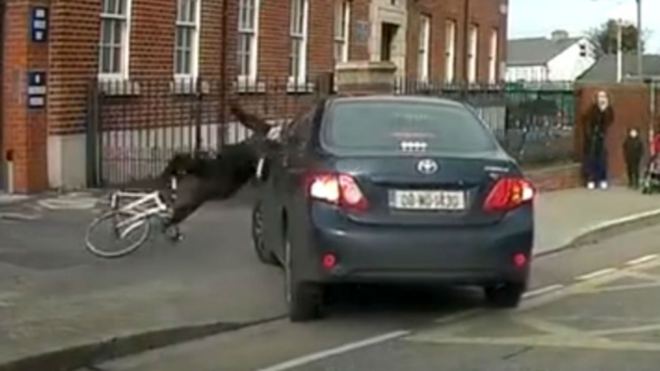 A cyclist was knocked off by a car - but who was at fault?
