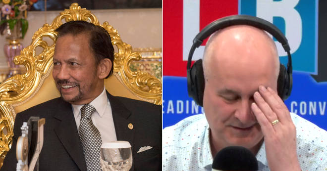 Iain Dale was shocked to hear a caller backing the Sultan of Brunei