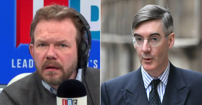 James O'Brien pointed out a problem with Jacob Rees-Mogg's tweet