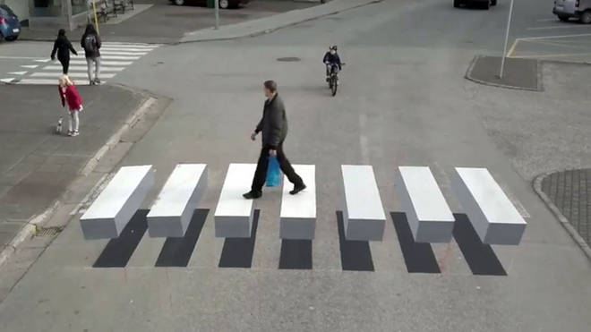The new 3D zebra crossing