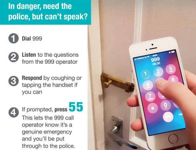 How to silently make a 999 call