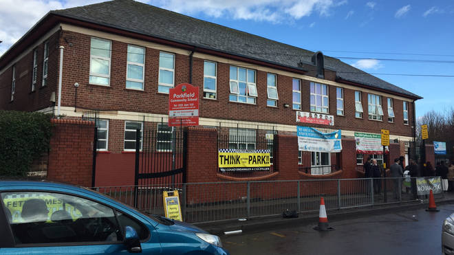 Parkfield Community School has seen weekly protests over LGBT lessons