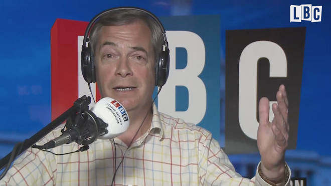 Nigel Farage was broadcasting from Washington DC