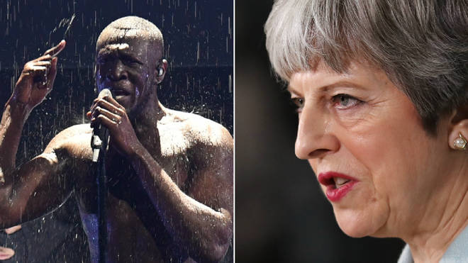 Stormzy took aim at Theresa May at the Brits