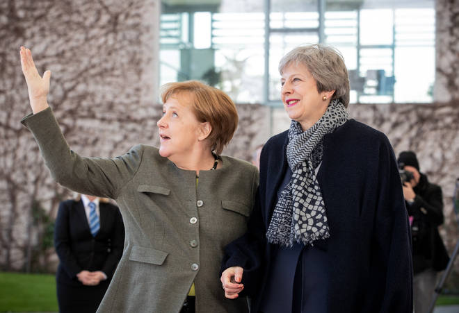 Angela Merkel and Theresa May meet in Berlin