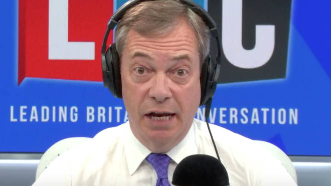 Nigel Farage took time out of his LBC show to respond to criticisms